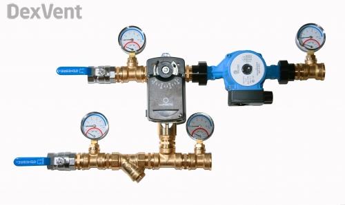 Смесительные узлы для установок с водяным калорифером